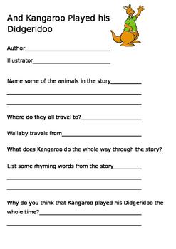 And Kangaroo played his Didgeridoo simple