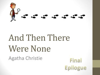 And Then There Were None Final Epilogue (Manuscript) Teach