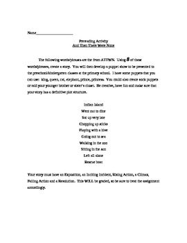 And Then There Were None - Prereading Activity & Character