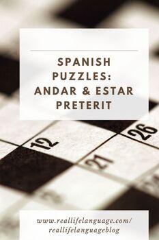 Andar and Estar Preterit Puzzle
