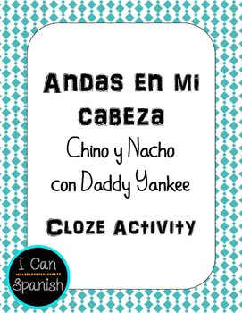 Andas en me cabeza Spanish Song Activity
