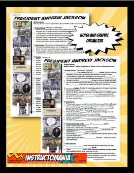 Andrew Jackson Notes and Graphic Organizer Standard 8.8.1