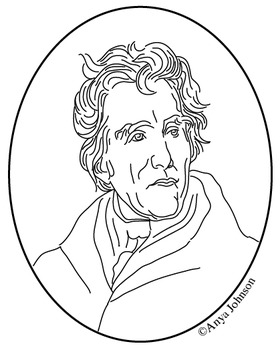 Andrew Jackson (7th President) Clip Art, Coloring Page or
