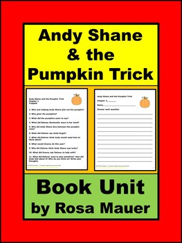 Andy Shane and the Pumpkin Trick Reading Comprehension Book Unit