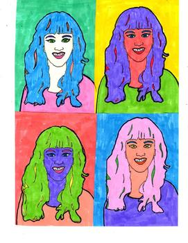 Andy Warhol Celebrity Pop Art Lesson and Activity, Simple & Fun