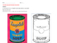 Andy Warhol Soup Can art worksheets