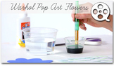 Andy Warhol's Pop Art Flowers Art lesson & Video