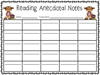 Anecdotal and Observation Forms!
