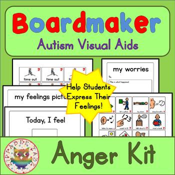 Anger / Behaviour Interactive Kit - Boardmaker Visual Aids