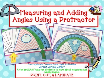 Measure and Add Angles using a Protractor- FUN Hands-On Ge