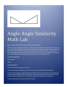 Angle-Angle Similarity Lab