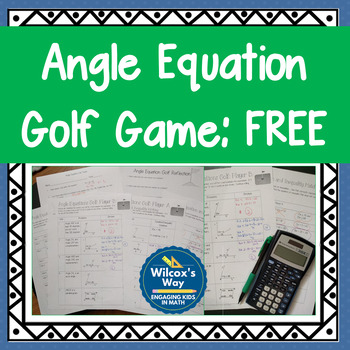 Angle Equations Golf Game Free
