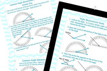 Angle Measurement Guide (Common Core Aligned)