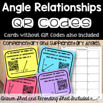 Angle Pairs - Complementary and Supplementary Angles (with