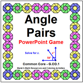 Angle Pairs - WIPE OUT! Powerpoint Game