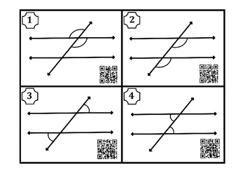 Angle Relationship Cards (Traversal & Parallel Lines)