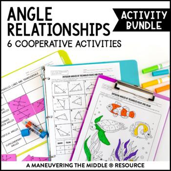 Angle Relationships Activity Bundle