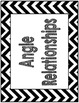 Angle Relationships Common Core Anchor Chart Black and Whi