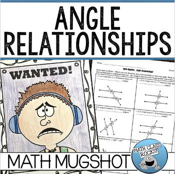 Angle Relationships Math Mugshot!