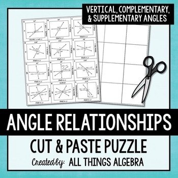 Angle Relationships (Vertical, Complementary, & Supplement