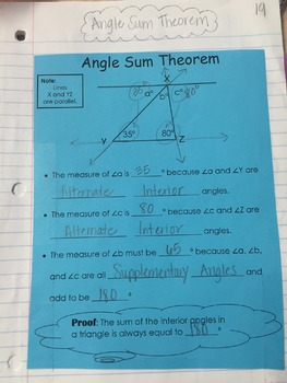 Angle Sum Theorem