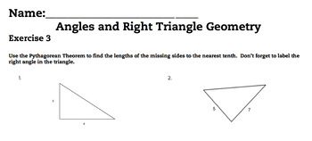 Angle and Right Triangle Geometry Complete Bundled Unit Le