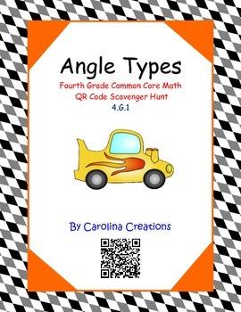 Angle types QR Code Scavenger Hunt - Fourth Grade Common C