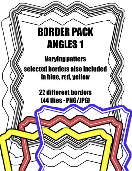 Angles 1: Border / Frame Pack - Digital Clipart [22 differ