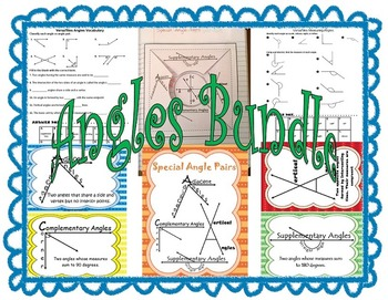 Angles Bundle includes Special Angle Pairs and Reflex Angl