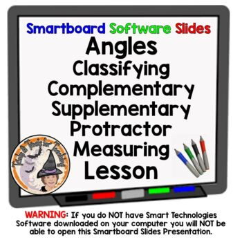 Angles Classifying Complimentary Supplementary Protractor