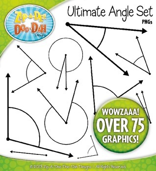 Angles Clip Art Set — Every 5 Degrees / Over 75 Graphics!