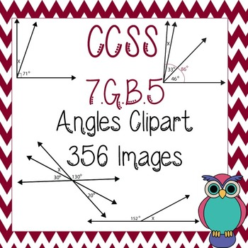 Angles Clipart for 7.G.B.5: Complementary, Supplementary,