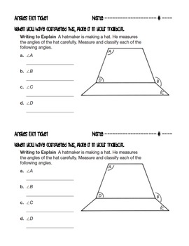 Angles Exit Ticket