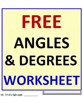 Angles FREE Worksheet