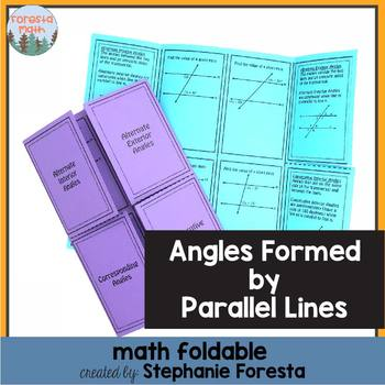 Angles Formed by Parallel Lines