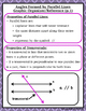 Parallel Lines - Angles Formed by Transversals Reference/G