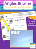 Angles & Lines Study Guide with QR Codes