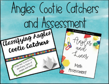 Angles, Lines, Line Segments, Points, and Rays Cootie Catc