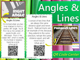 Angles & Lines Task Cards with QR Codes