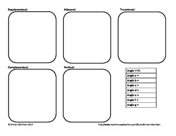 Angles Multi-Lesson Activity, Bundled