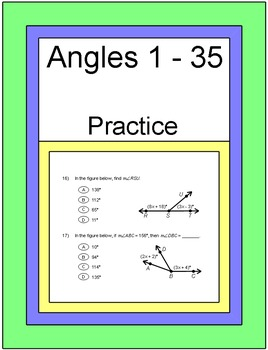 Angles - Practice on Different types of Angle Problems (1