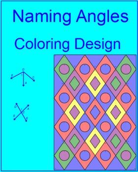 Angles - Naming Angles Coloring Activity