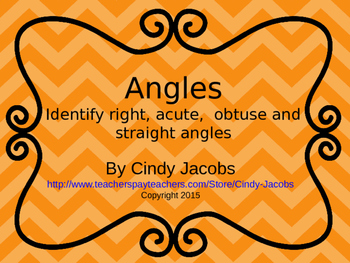 Angles Power Point Identifying Angles Right Acute Obtuse S