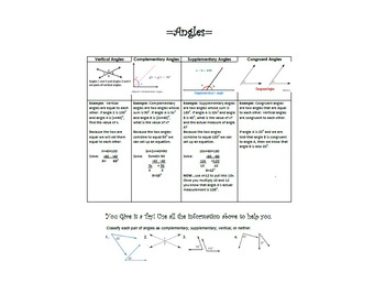 Angles Practice and Review