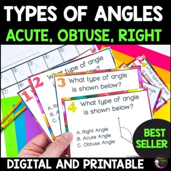 Angles -Right, Obtuse or Acute- 24 Task Cards
