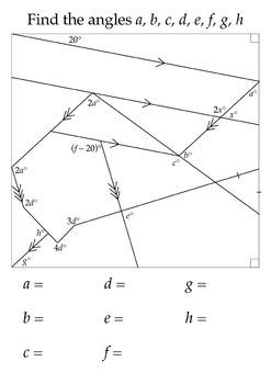 Angles Sheet (Geometry)