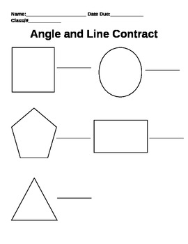 Angles and Lines Differentiated Contract Menu