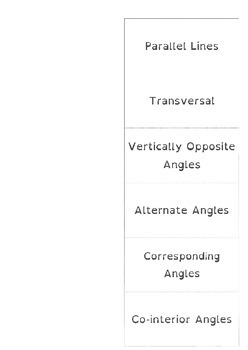 Angles and Parallel Lines Foldable
