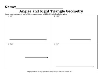 Angles and Right Triangle Geometry Lesson 2 of 6 Angle Con