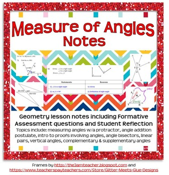 Angles and Their Measures Guided Notes (for introductory u